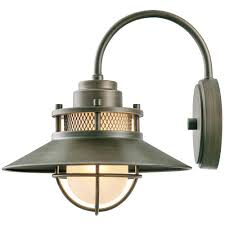 Wall Sconces Bronze Globe Electric Liam Collection 1 Light Bronze Outdoor Wall Sconce