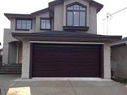 Overhead Roll Up Garage Doors Garage Door Overhead Heavenly Brown Painted Residential Roll