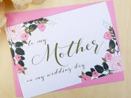 Groom To Bride Card To My Mother Card Mother Of The Bride Card Mother Of The Bride