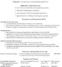 Housekeeper Resume Sample by Resume Sample Housekeeping Supervisor Templates