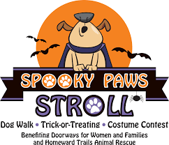 halloween cartoon pic spooky paws stroll and costume contest doorways for women and