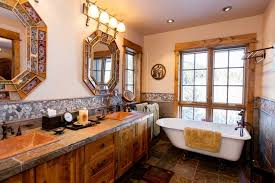 clawfoot tub bathroom ideas rustic bathroom ideas with unique mirrors and white clawfoot tub