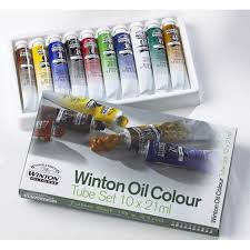 winsor and newton winton oil colour 10 x 21ml basic set home