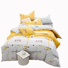 Yellow Patterned Duvet Cover Online Get Cheap Yellow Patterned Duvet Covers Aliexpress Com