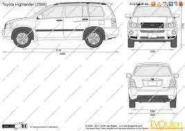 2014 toyota highlander ground clearance the blueprints com vector drawing toyota highlander
