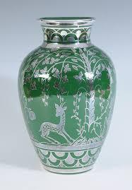 Deco Vase A Gio Ponti For Richard Ginori Italian Art Deco Vase Decorated In