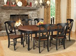 AAM Oak Black  Piece Set Kitchen Furniture Dining Room - Black kitchen table and chairs