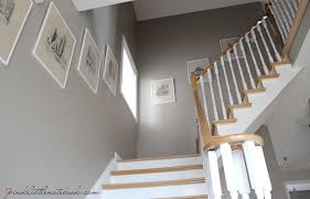 Oak Stair Banister Ordinary Oak To Simply White My Staircase Reveal Pink Little