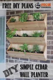 cedar wall planter free diy plans rogue engineer