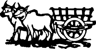 cattle clipart cart pencil and in color cattle clipart cart