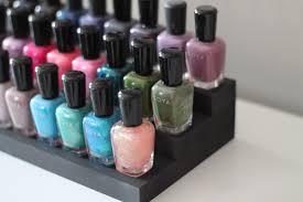 matte ebony black table top nail polish rack essential oils