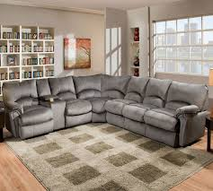 Microfiber Reclining Sectional With Chaise Grey Sectionals Fancy Living Room Ideas With Grey Sectionals