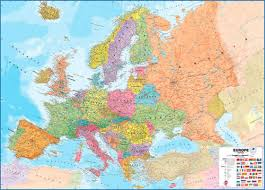 mapa europe large europe wall map political business map centre