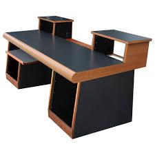 How To Build A Recording Studio Desk by Sound Construction 4x2 Task Desk Oak Workstation Desks