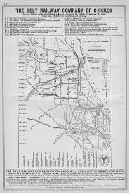 Map Of Chicago Area by The Belt Railway Of Chicago