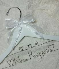 Wedding Dress Hanger Personalized Bridal Dress Hangers Custom Wire Name Wedding Day