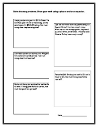 common core second grade money word story problems math mania
