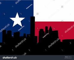 Flags Houston Houston Skyline Texan Flag Illustration Stock Vector 6799015
