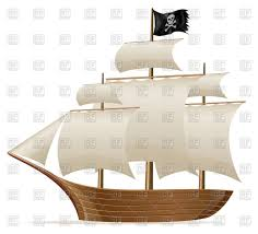 pirate ship side view vector clipart image 64911 u2013 rfclipart
