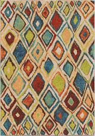 Rug Color Orian Rugs Bright Color Geometric Nabalis Multi Texture Area Rug