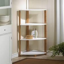 kitchen four levels corner kitchen shelf in white made of wood