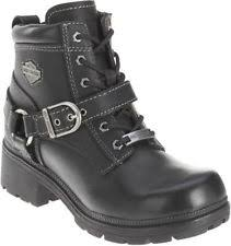 womens boots leather black womens harley davidson boots ebay