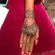 rihanna gets new henna inspired hand tattoo mehndi tatoo and hennas