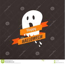 halloween cute poster with ghost stock vector image 43130789