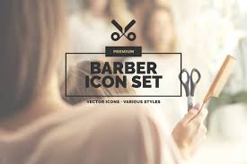 20 barber icons in 3 styles icons creative market