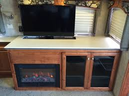 Tv Storage Cabinet Custom Rv Tv Fireplace Storage Cabinet A Coach Supply Direct