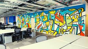 facebook poland office mural on behance