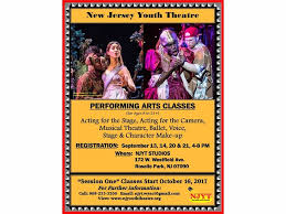 makeup classes in nj new jersey youth theatre performing arts classes new providence