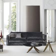 contemporary sofa contemporary sofa velvet linen 4 seater danton berto salotti