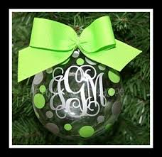 monogrammed christmas ornaments are our specialty