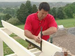 How To Attach A Pergola To A Deck by How To Cut And Install The Purlins And Capitals For A Pergola