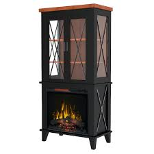 full image for black electric fireplace with shelves dimplex corner a console freestanding fireplaces tv stand