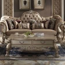 sofa dresden dresden bone velvet gold patina 3 sofa set usa warehouse