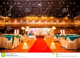 wedding hall decoration stock image image 35927321