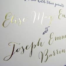 Printing Wedding Invitations Modern Calligraphy Gold Printing Wedding Invitations 2551782