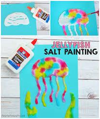 jellyfish salt painting activity for kids liquid watercolor