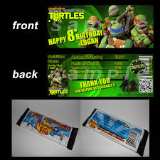 ninja turtle invitation template best template collection