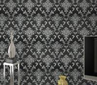 cheap silver black damask wallpaper free shipping silver black