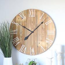 handmade wooden wall clock large wall clock rustic wall