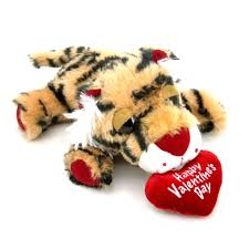 valentines day stuffed animals tiger with heart 4in seasonal s