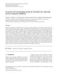 a survey and comparative study of simulators for vehicular ad hoc