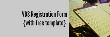 vbs registration form with free template borrowed