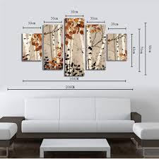 hx art no frame canvas 47 five set painting living room decoration
