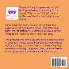 new personalized gift time gift welcome baby a personalized gift book to welcome a new baby in