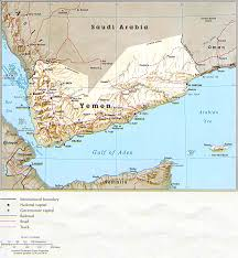 Middle East Physical Map by Yemen Physical Map 1993 Full Size