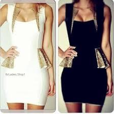dress black white jullnard gold party dress